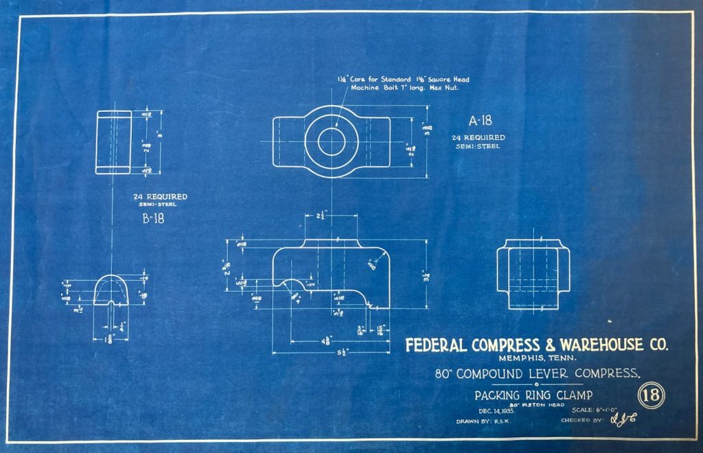 Blueprint from 1935