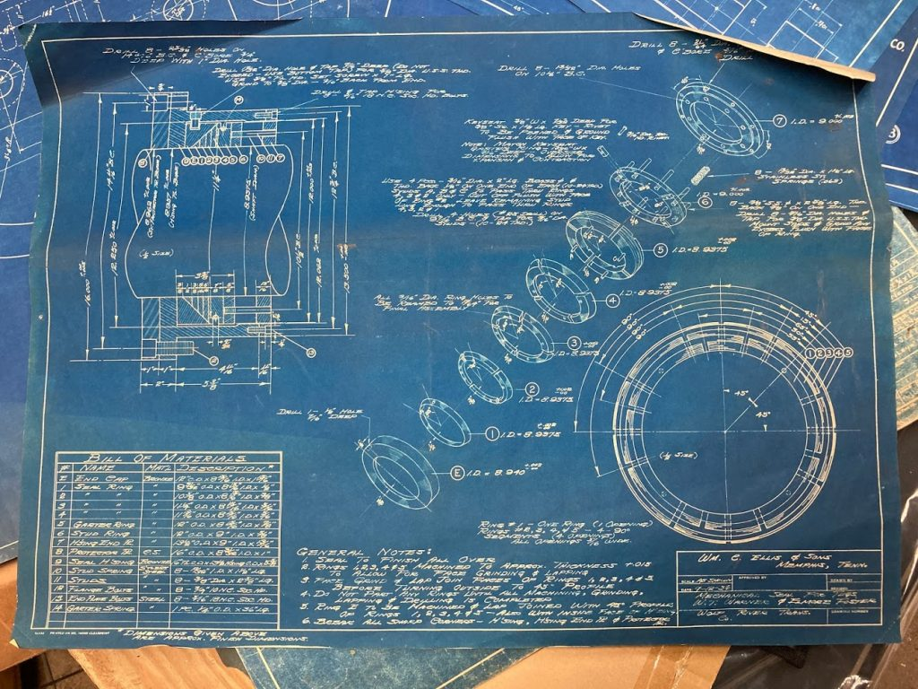 Exploded View Blueprint from 1956